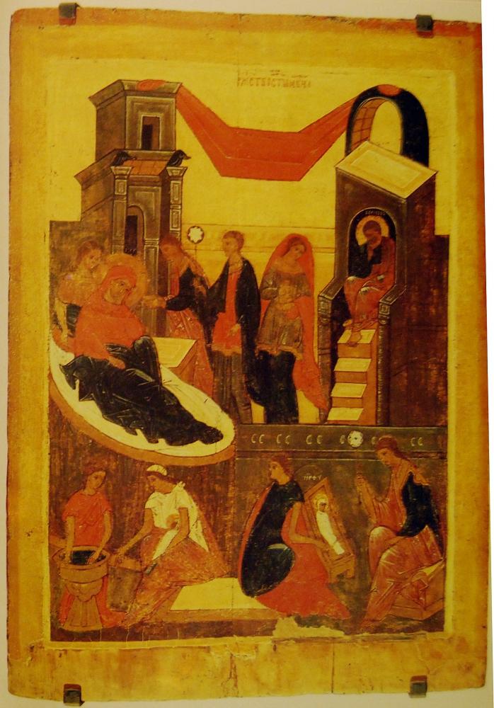 Рождество Пресвятой Богородицы. Икона XVI в. Происходит из Преображенской церкви с. Матвеево