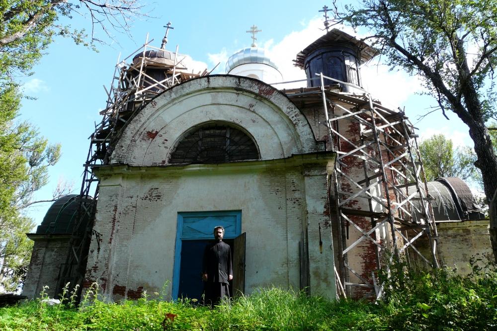 Георгиевская церковь в погосте Георгиевском близ Бирючёва. Фото Д. Ивлева 2012 г.